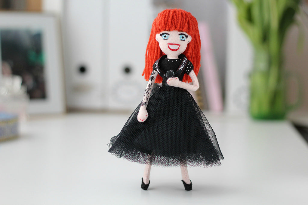 selfie doll made to order, custom handmade doll, whisper of the pipit doll, one of a kind