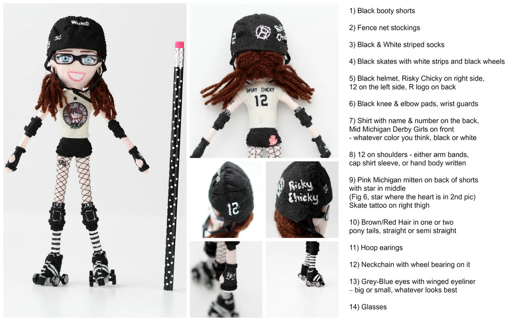roller derby girl doll