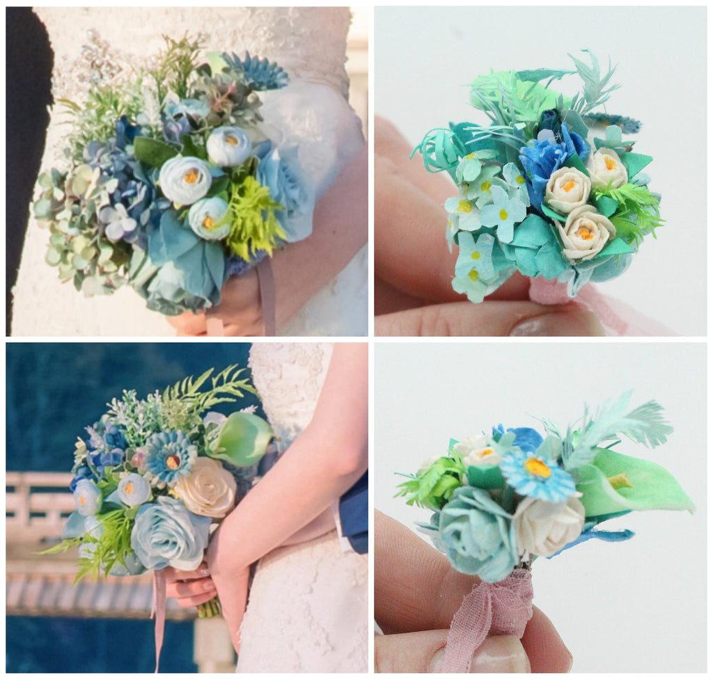 wedding flowers blue