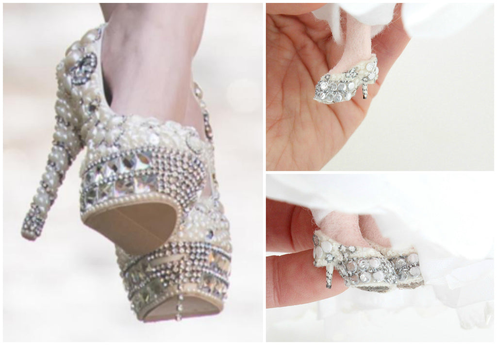 wedding shoes doll