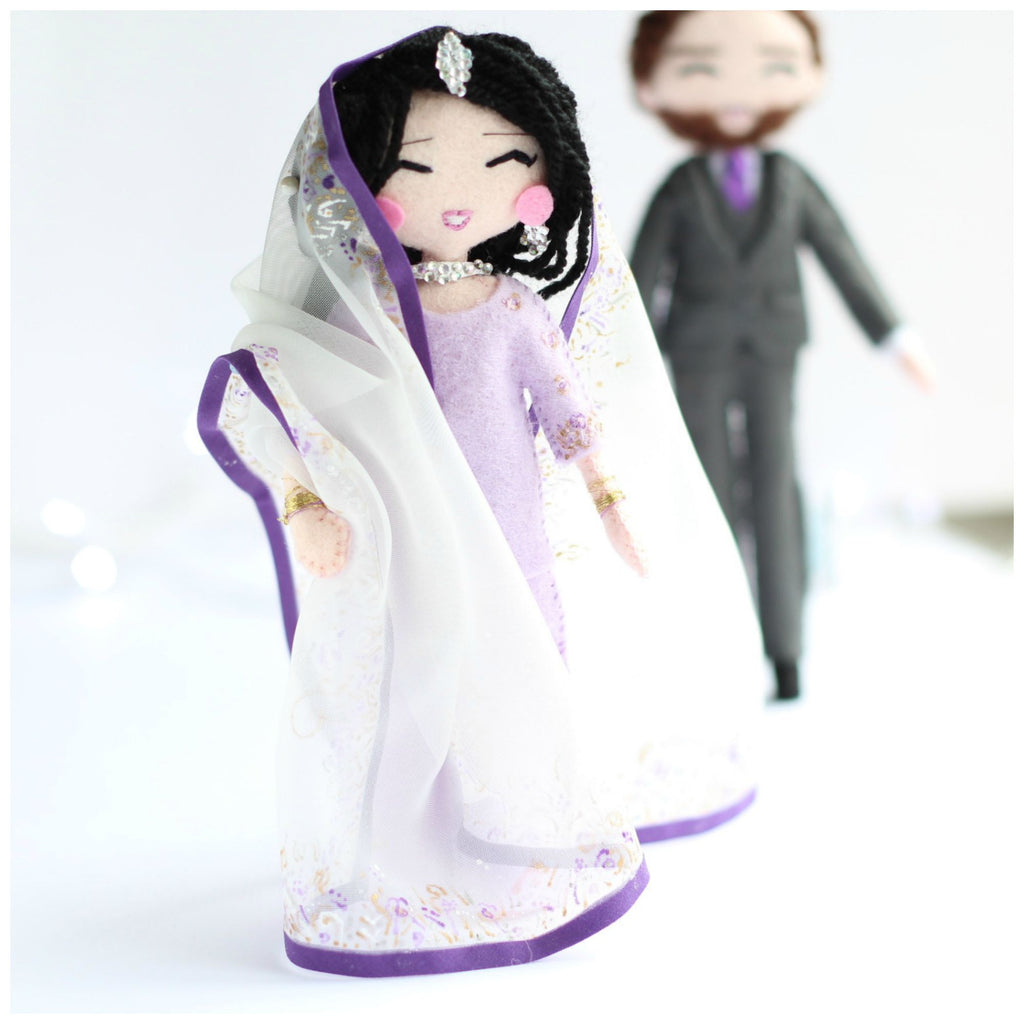 wedding art dolls, wedding gift, personalised dolls, indian wedding