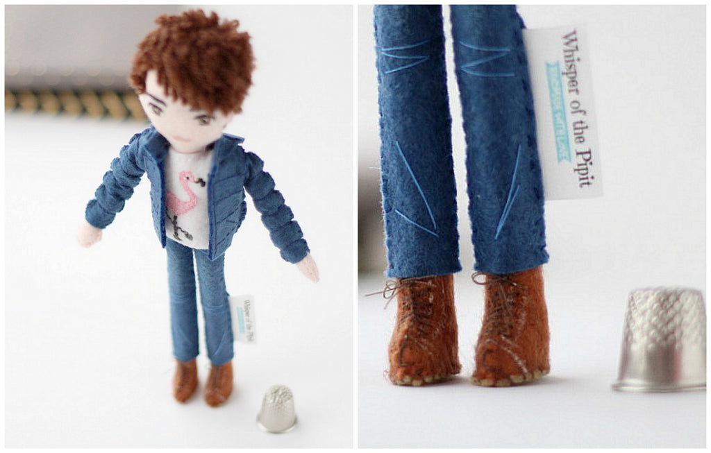 Happy 21st birthday, celebrate your best friend's birthday in one-of-a-kind style! selfie doll made to mirror your friend's clothes, hair style and accessories is what he/she will treasure for a really long time. Whisper of the Pipit art dolls,