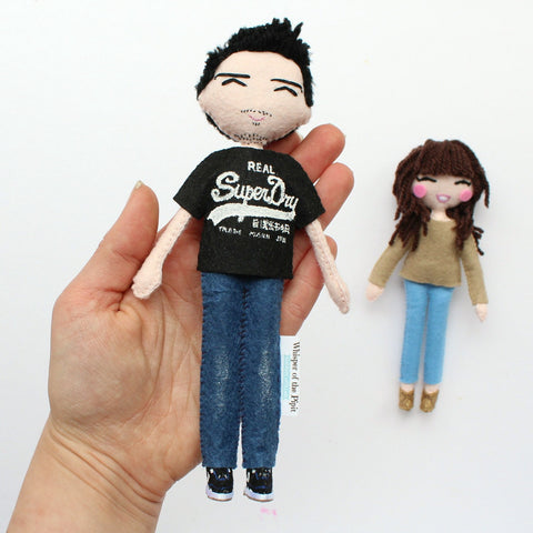 custom art dolls made to order according to the customers pictures. Handmade selfie dolls. SHOP: www.whisperofthepipit.com