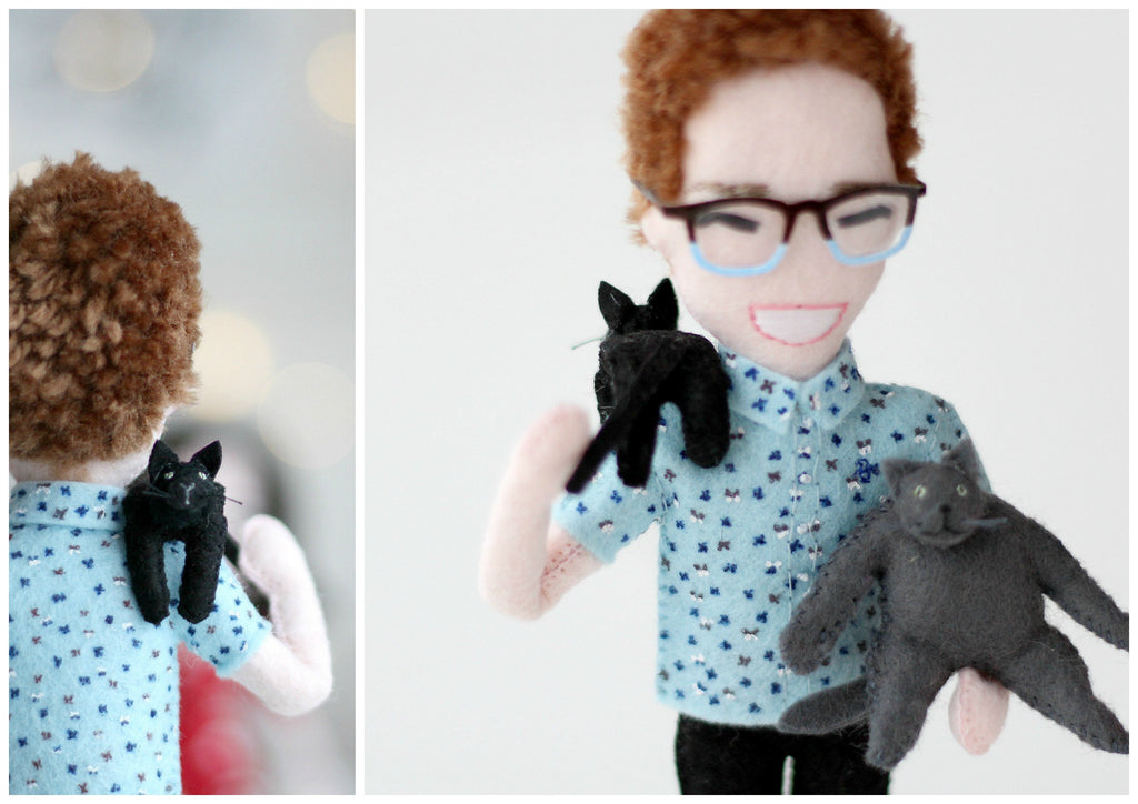 selfie doll with cats