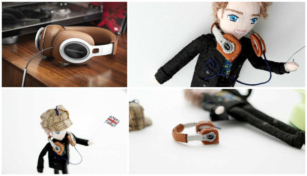 selfie doll with headphones. unique gift idea for boyfriend.