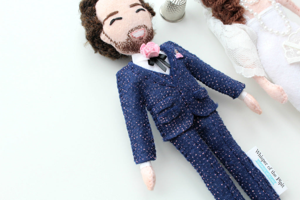whisper of the pipit dolls, handmade dolls, selfie dolls, unique anniversary gift, wedding gift, wedding dolls, personalise wedding, how to personalise wedding,