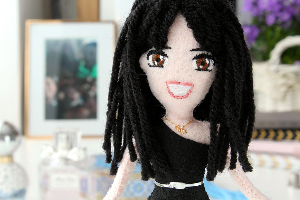 manga dolls made from felt, mini you dolls created according to the photo,