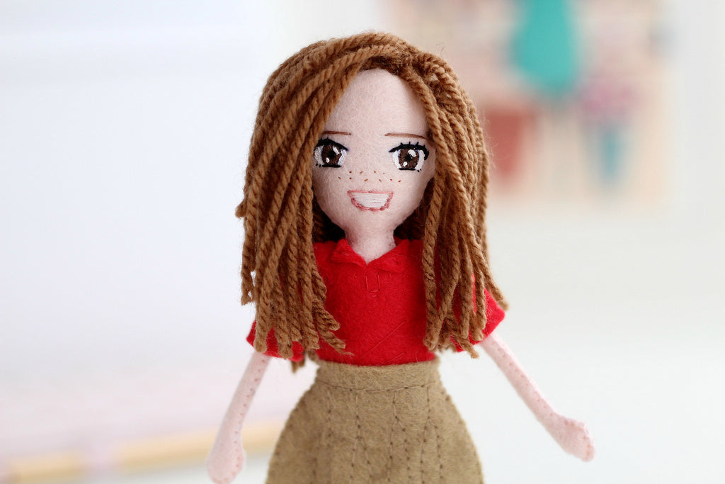 handmade doll, felt doll, what to buy for Christmas, what to buy for valentines day, grandma, grandad,