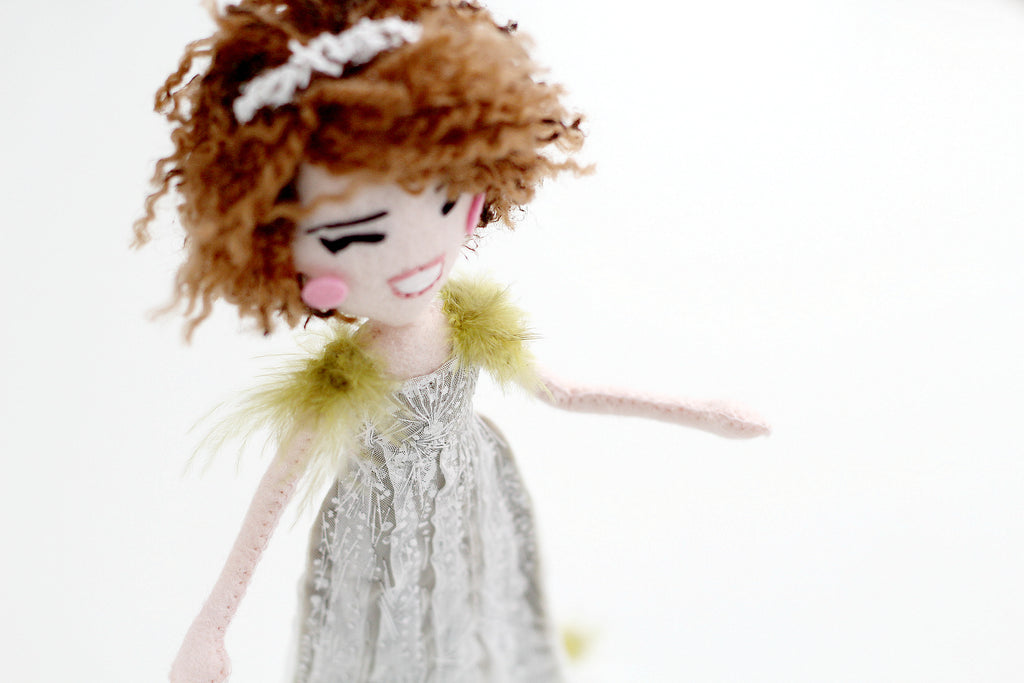 Whisper of the Pipit custom dolls, handmade dolls, felt dolls, perfect gift for manga fan,