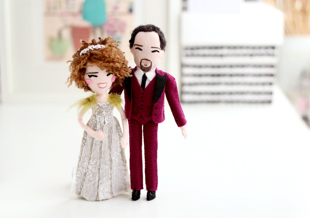 wedding gift ideas, unique gifts for Christmas, Valentines day gift idea, Whisper of the Pipit custom dolls, handmade dolls, felt dolls, perfect gift for manga fan,