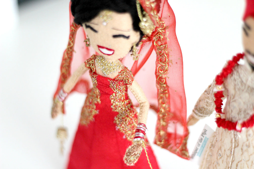 Whisper of the Pipit custom art dolls, Sikh wedding dolls, hindu dolls, indian dolls, indian wedding, sikh wedding, www.whisperofthepipit.com