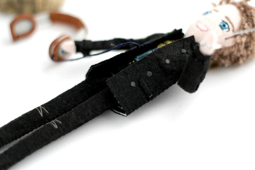 black coat, 18cm doll, doll house doll,