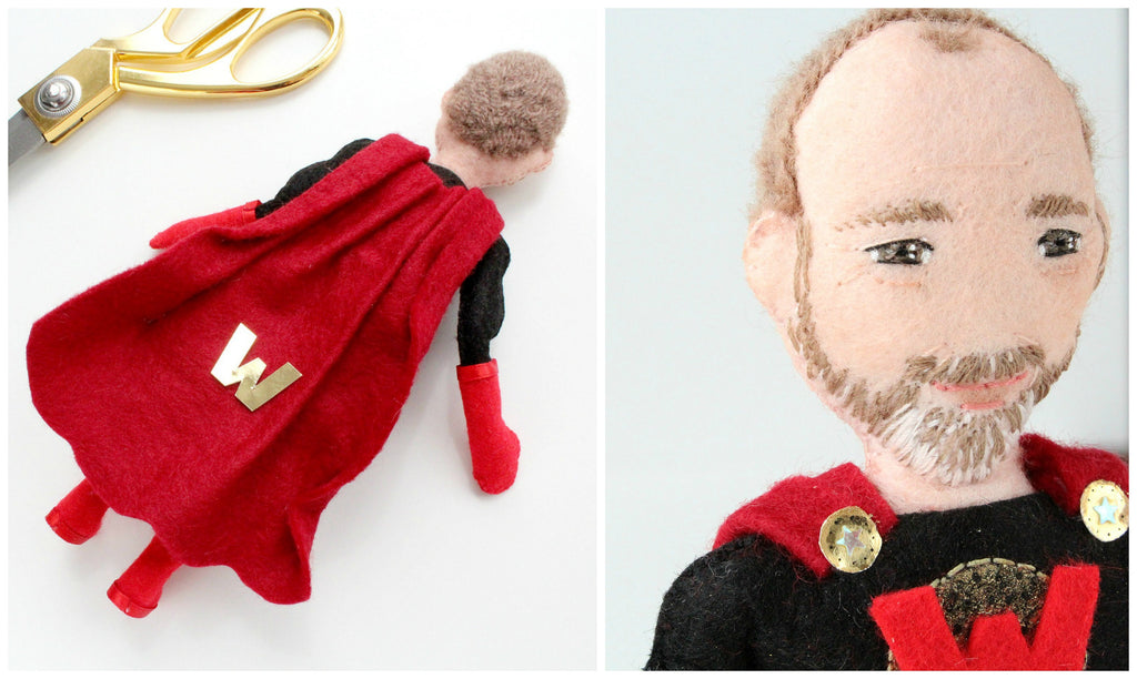fathers day gift idea for dad, selfie doll of dad