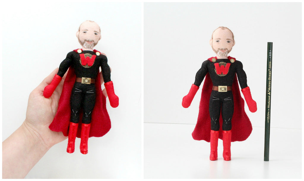 super hero doll for dad, personalised doll for fathers day