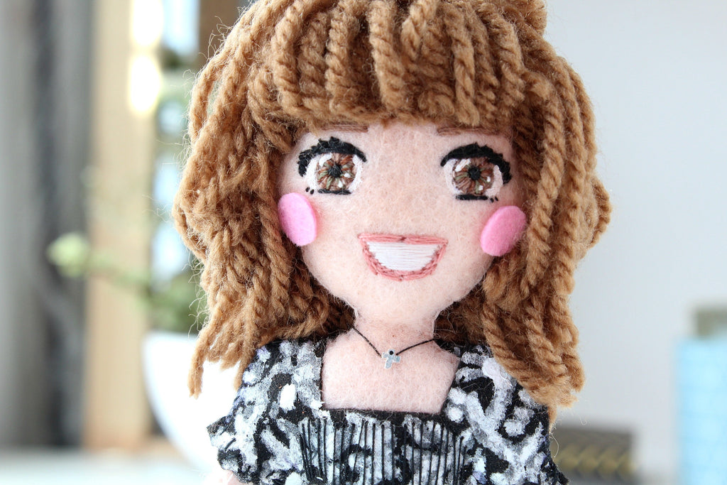 selfie doll, handmade doll, birthday gift for boyfriend, girlfriend gift, unique gifts, personalised gifts, what to give, Whisper of the Pipit doll,
