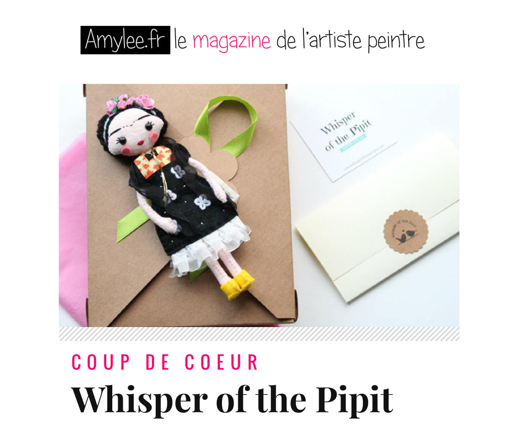 Amylee and Whisper of the Pipit article