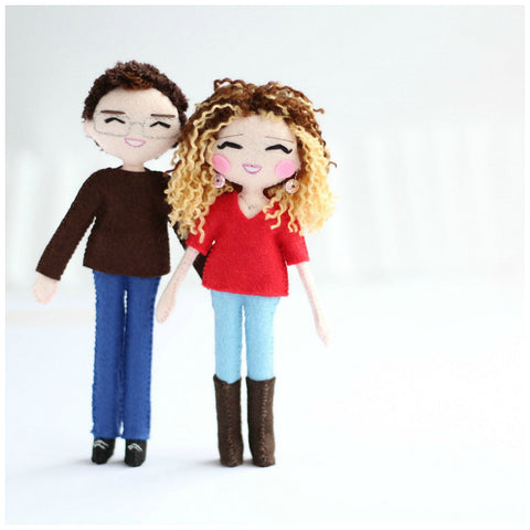 Bespoke art dolls to fit your specifications. Selfie dolls. Click here http://www.whisperofthepipit.com/collections/sale/products/custom-couple-art-dolls