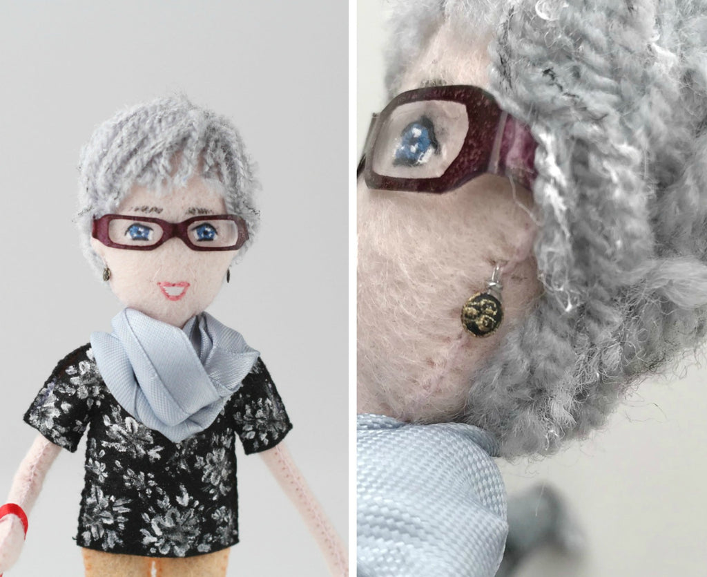 selfie doll of mum close up