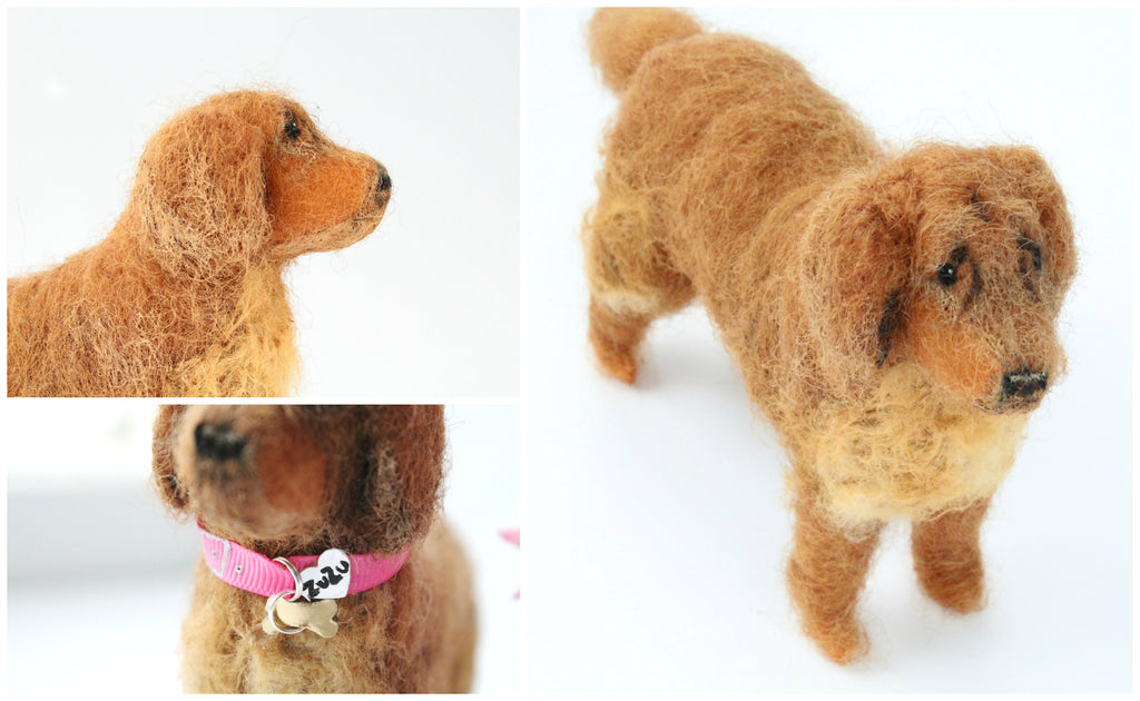 personalised dog statue figurine by whisper of the pipit malgo amos