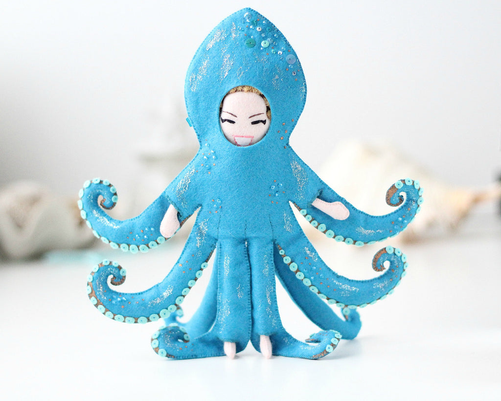 octopus doll by whisper of the pipit