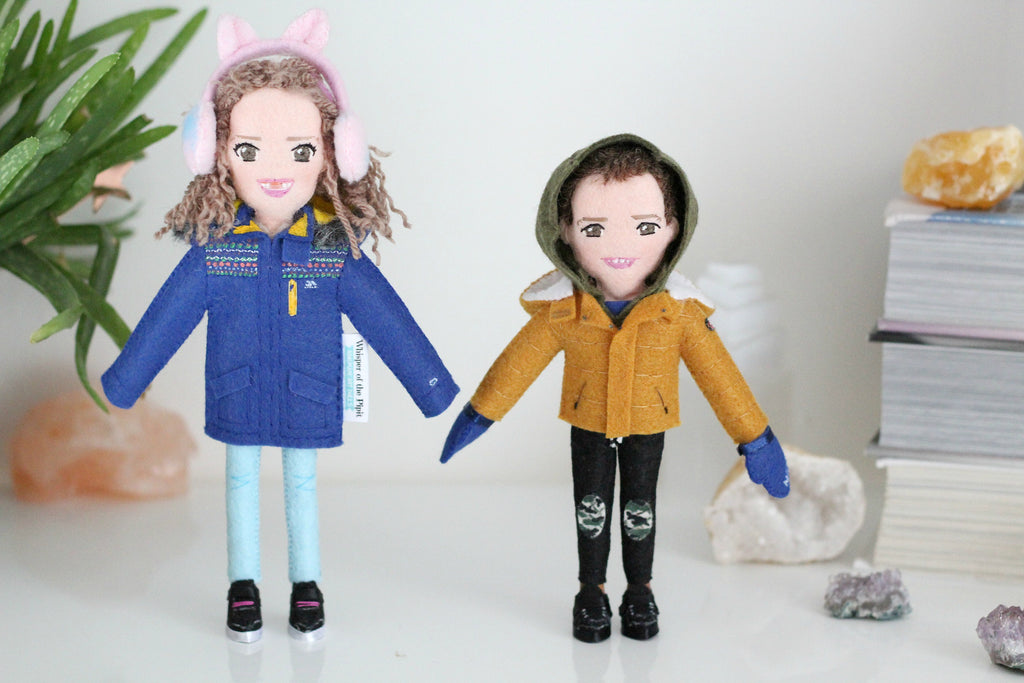 custom dolls of children made from photo