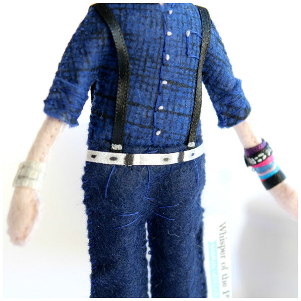 hand-painted shirt pattern. custom made doll. Whisper of the Pipit