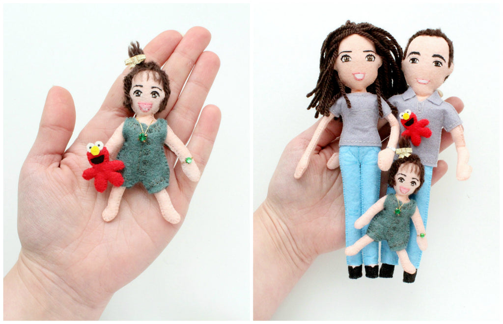 family art dolls, mum and dad dolls, whisper of the pipit dolls