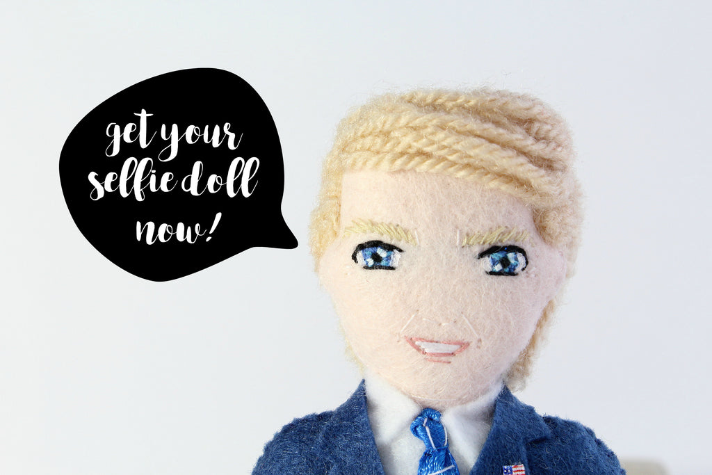 selfie doll of politicians, handmade one of a kind art dolls, Whisper of the Pipit dolls, selfie dolls uk