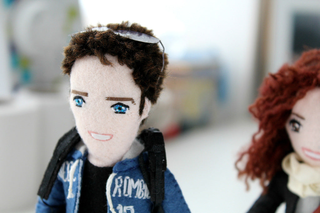 adorable selfie dolls based on customer's photos, whisper of the pipit dolls