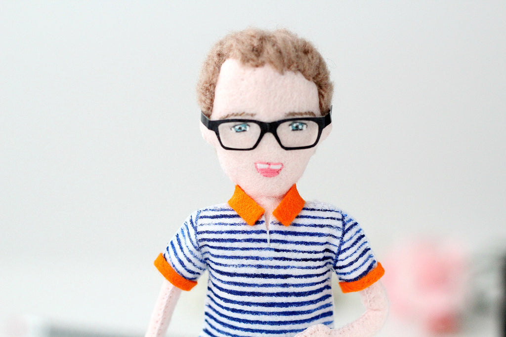 personalised doll for husband