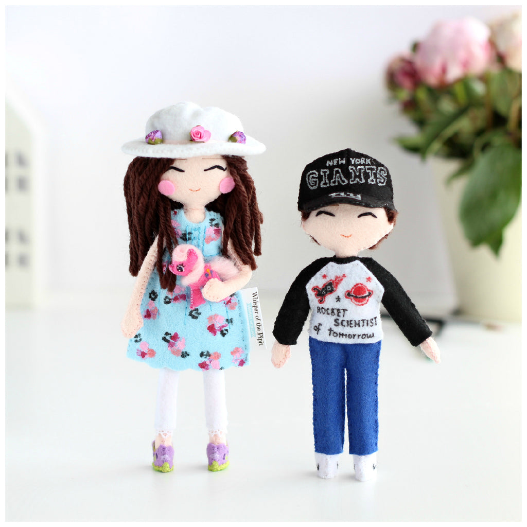 cute kids. 18cm Art doll and 14cm art doll. Perfect gift.