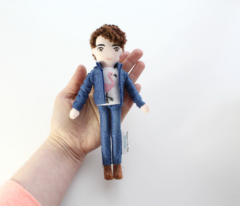 hand-size selfie doll by whisper of the pipit, one of a kind gift idea for birthday, create your own doll, personalised dolls are unique gifts for everyone, handmade goodies