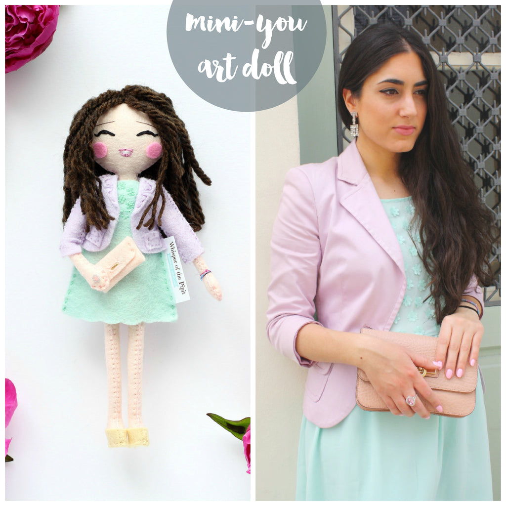 Pastel love. An art doll in pastel outfit. Beautiful doll. Gift idea for any doll collector.