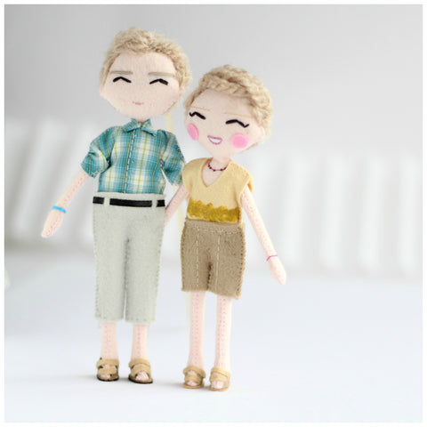 Here's some of my latest selfie doll creations. Commissions welcome: Click here: http://www.whisperofthepipit.com/collections/art-dolls/products/custom-couple-art-dolls