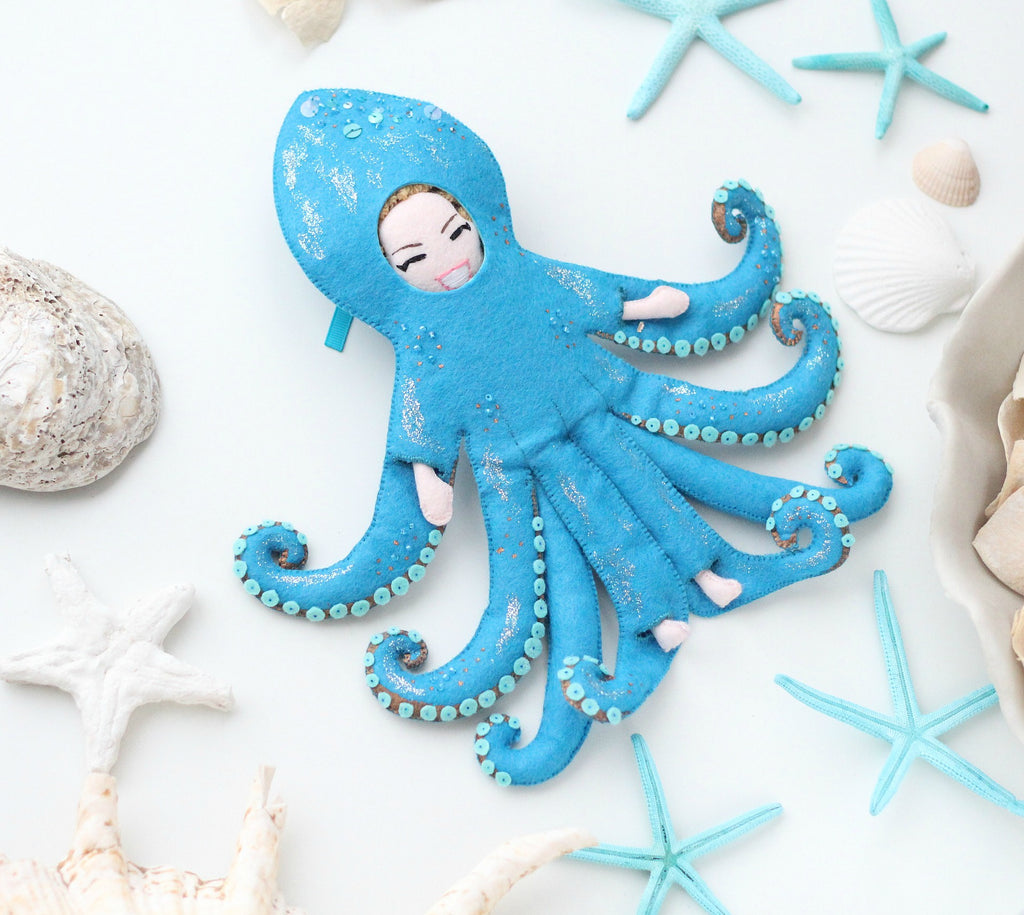 octopus outfit art doll