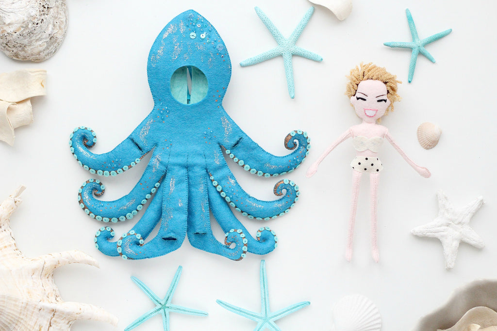 doll in octopus outfit removable by whisper of the pipit