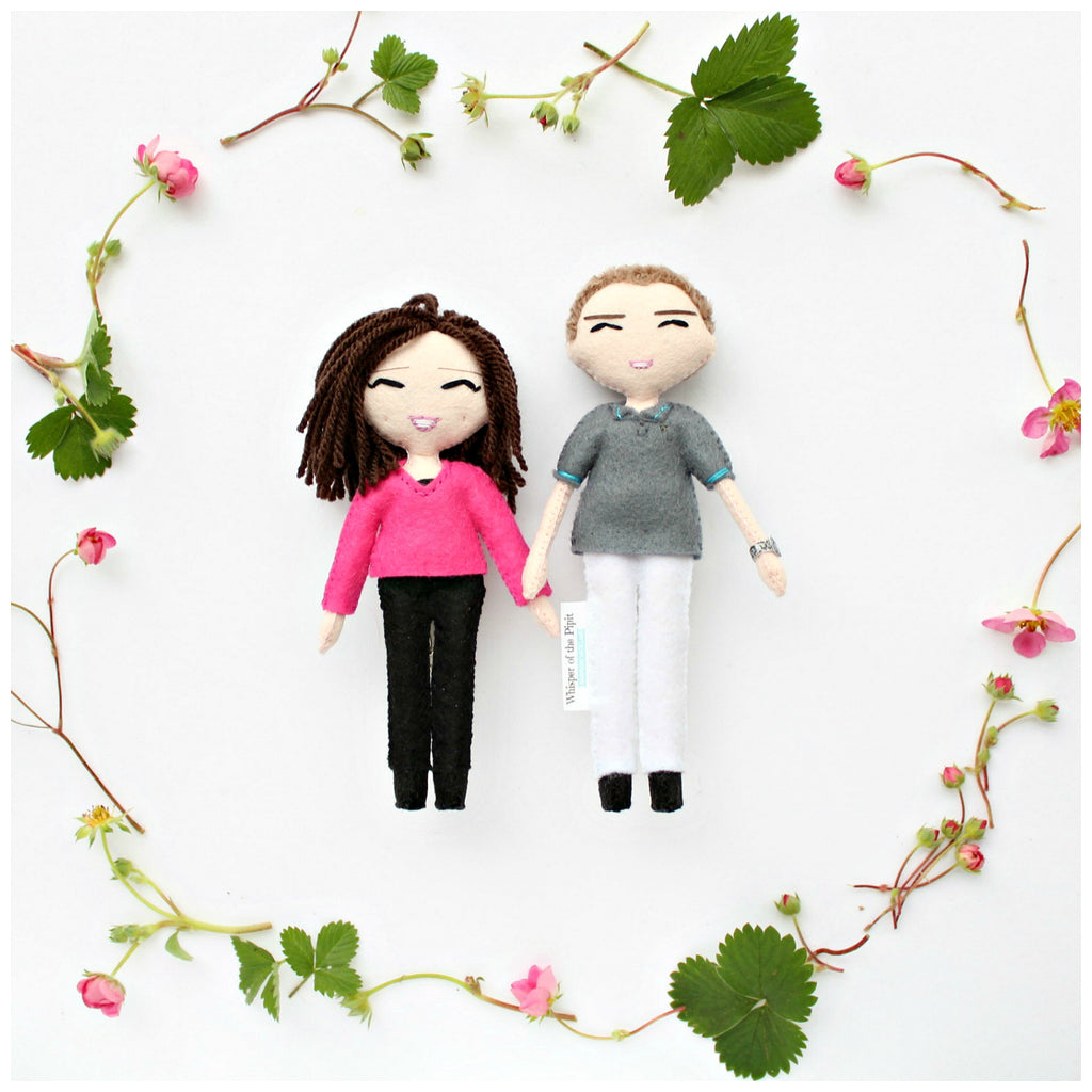 there's nothing like it! personalised art dolls to look like you or your loved ones. handmade from felt.