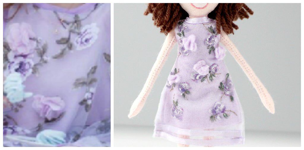 handmade pattern for selfie doll dress