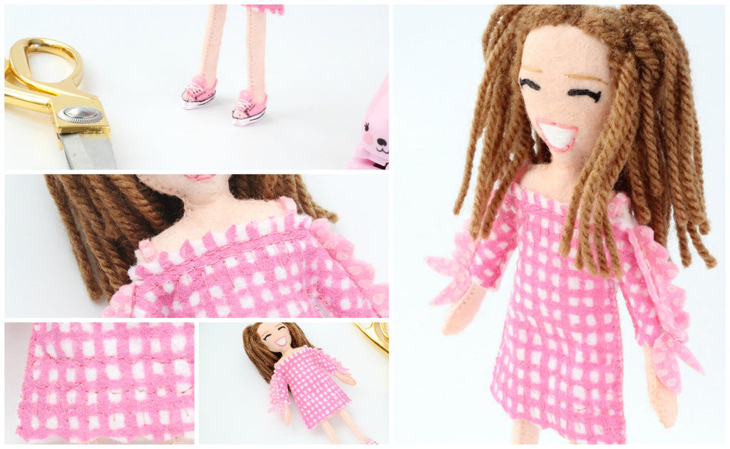 personalised doll of a little girl custom made doll