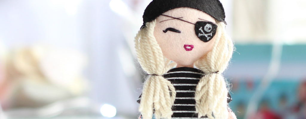 Pirate art doll. personalised doll.