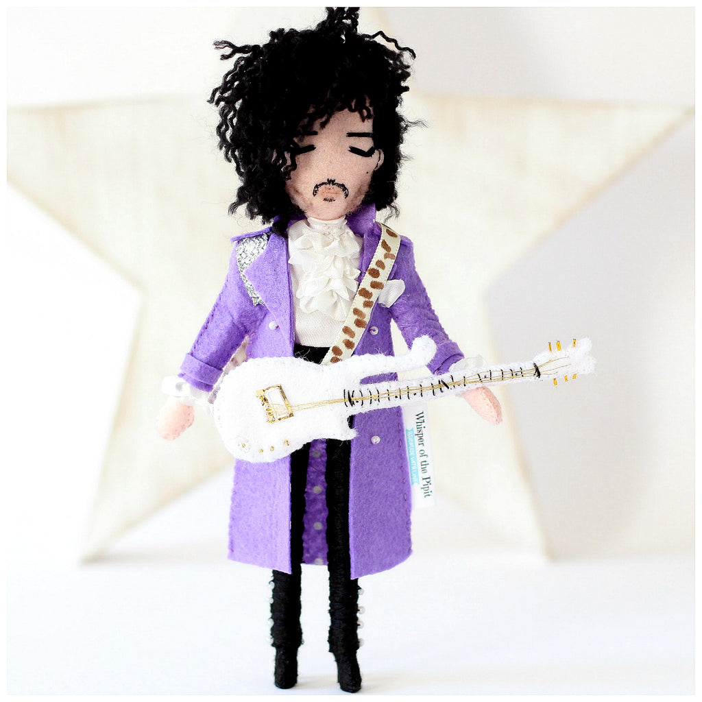 Prince Rogers Nelson, Prince, Artist formerly known as, Prince singer, Purple Rain, Prince art doll, Prince doll, Purple Rain. www.whisperofthepipit.com Whisper of the Pipit