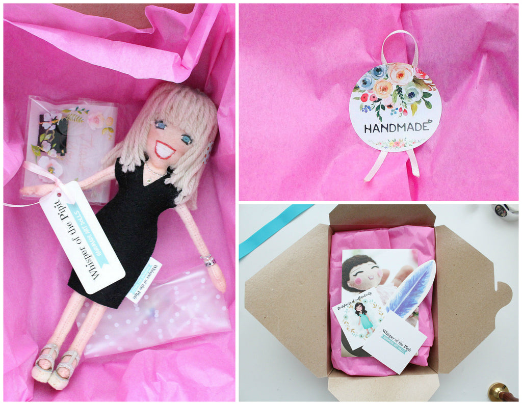 doll gift wrapped, selfie doll gift, gift for her
