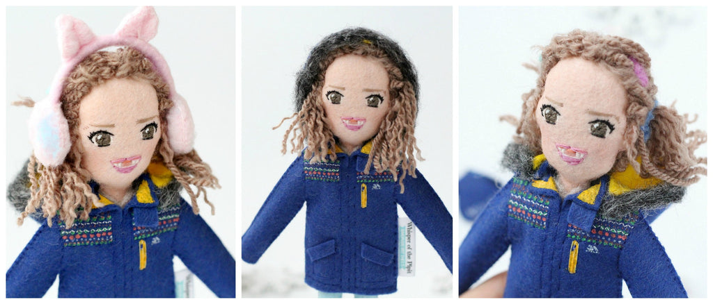 selfie dolls of children made from photo