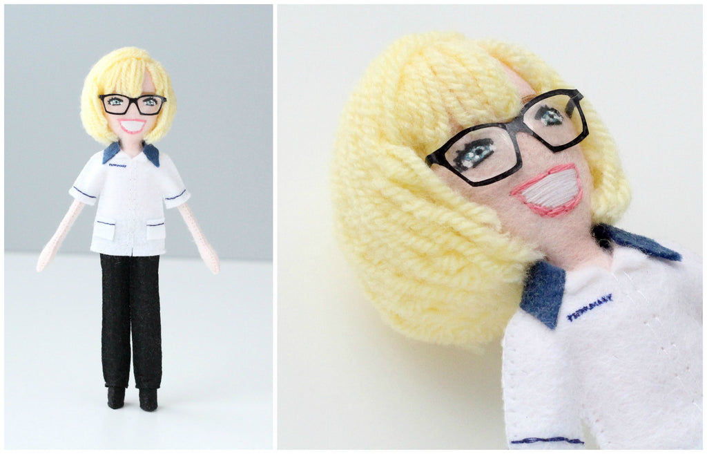 selfie doll as a leaving gift for colleague from work