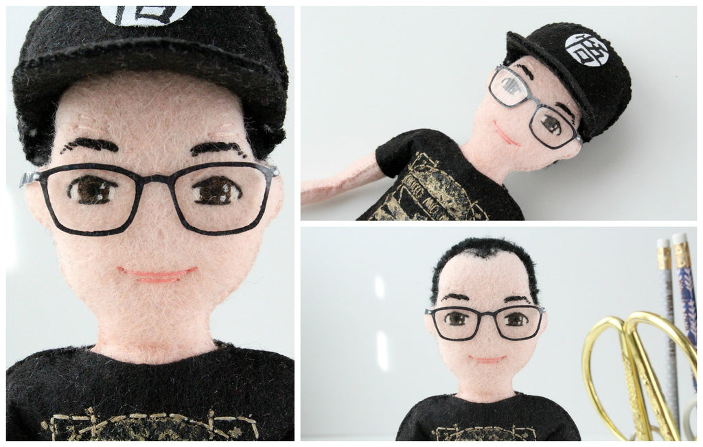 selfie dolls couple him and her glasses whisper of the pipit