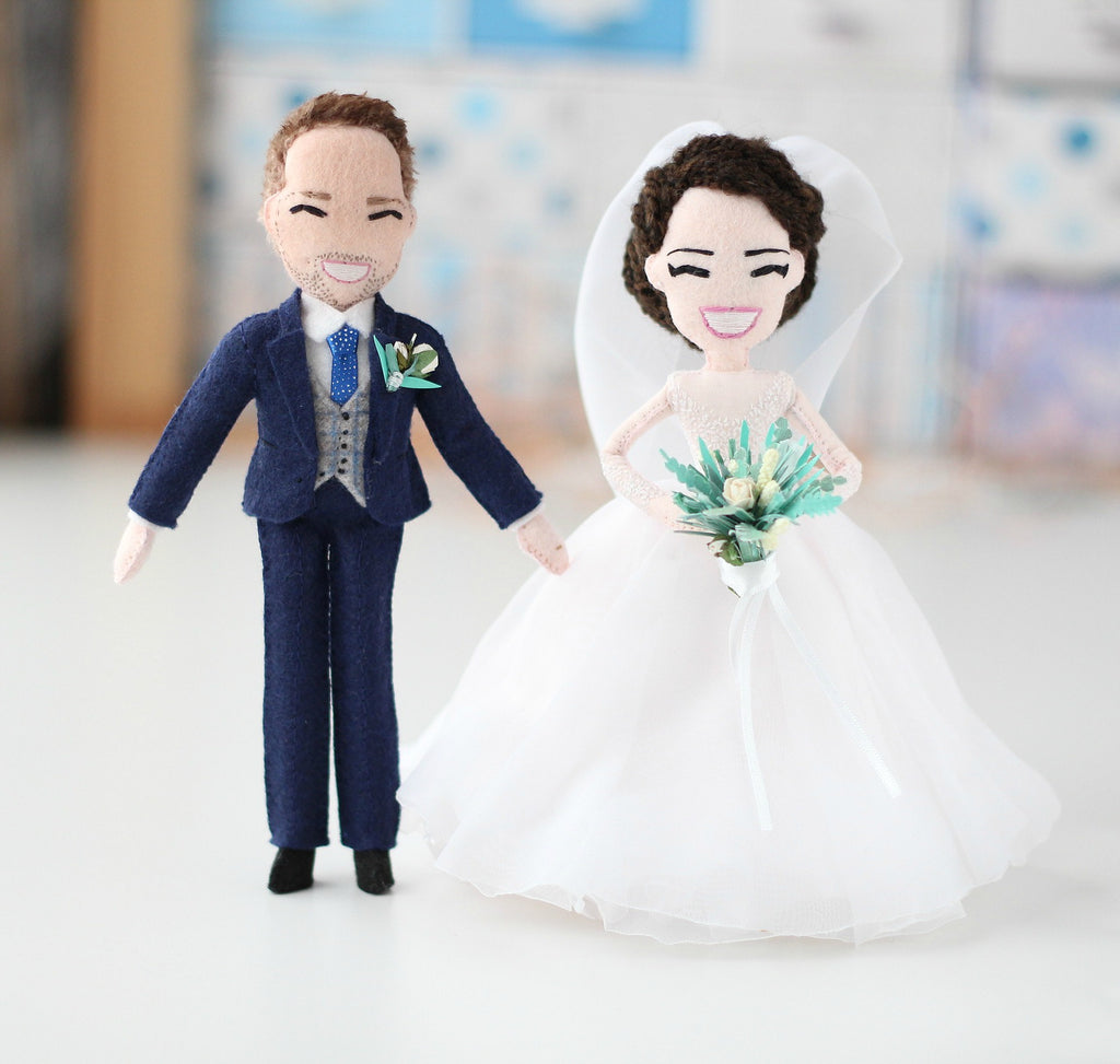 bride and groom doll, wedding gift