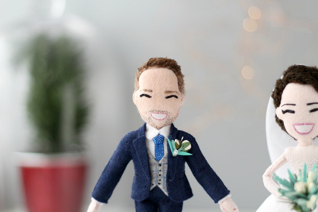 personalised doll of groom