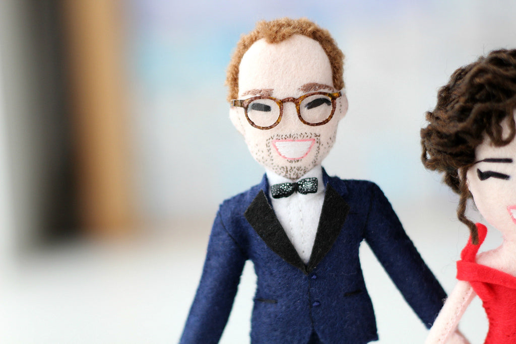 custom doll in bow tie