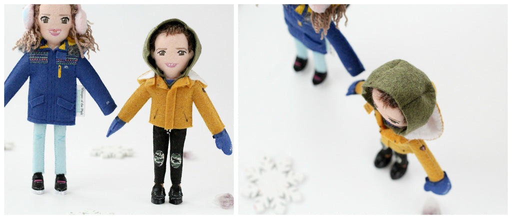 selfie dolls of children
