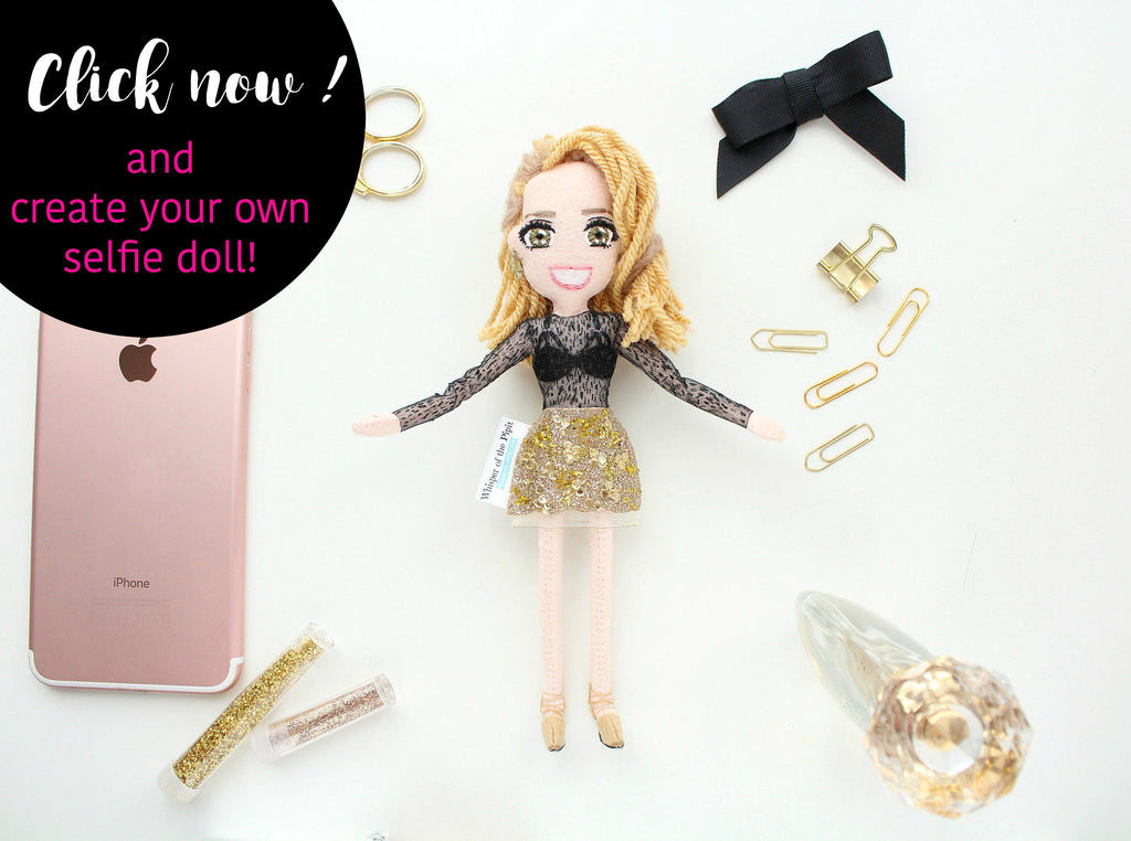 personalised gift, create your own selfie doll
